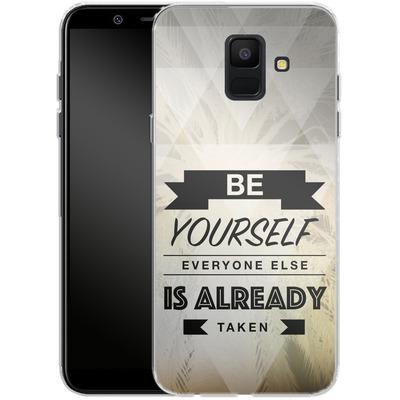 Samsung Galaxy A6 Silikon Handyhuelle - Be Yourself von Statements