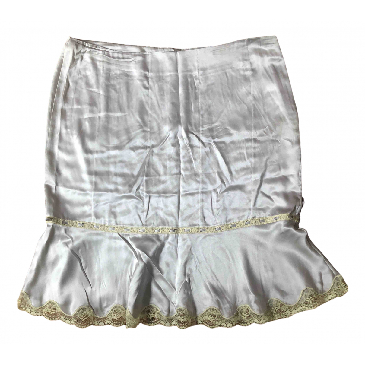 Blumarine - Jupe   pour femme en soie - gris