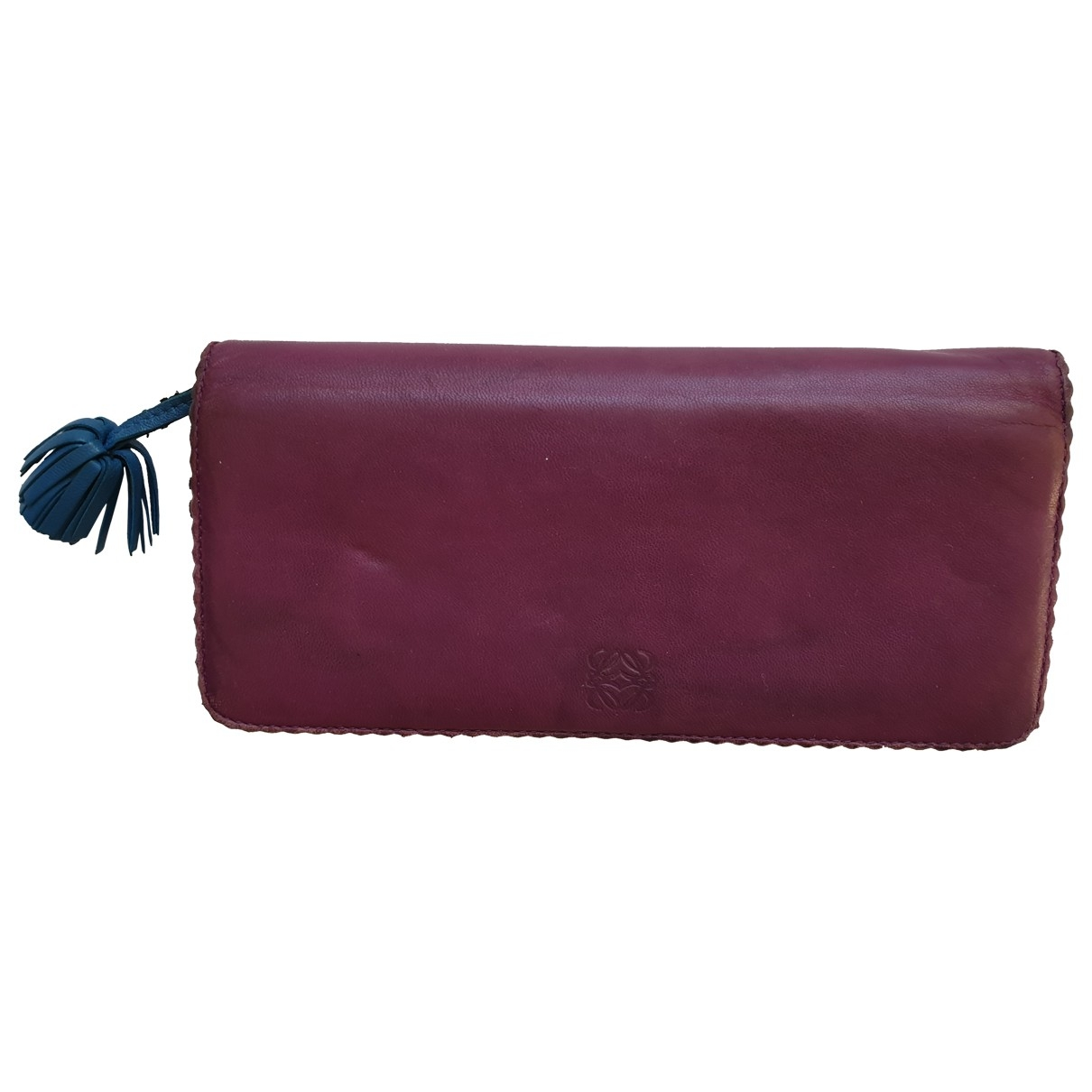 Loewe - Portefeuille   pour femme en cuir - violet