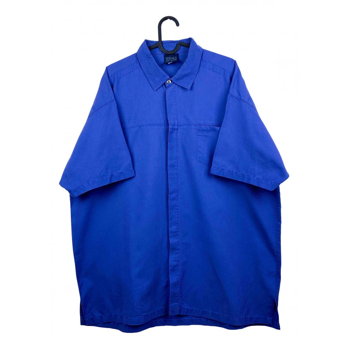 Versace Jean - Chemises   pour homme en coton - bleu