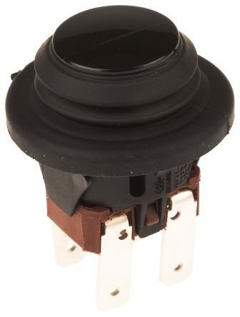 Molveno Double Pole Double Throw (DPDT) Latching Push Button Switch, IP65, 20 (Dia.)mm, Panel Mount, 125/250V ac