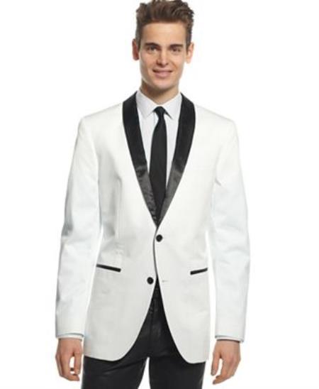 Mens 2 Button Blazer Cotton Dinner Jacket Slim Fit