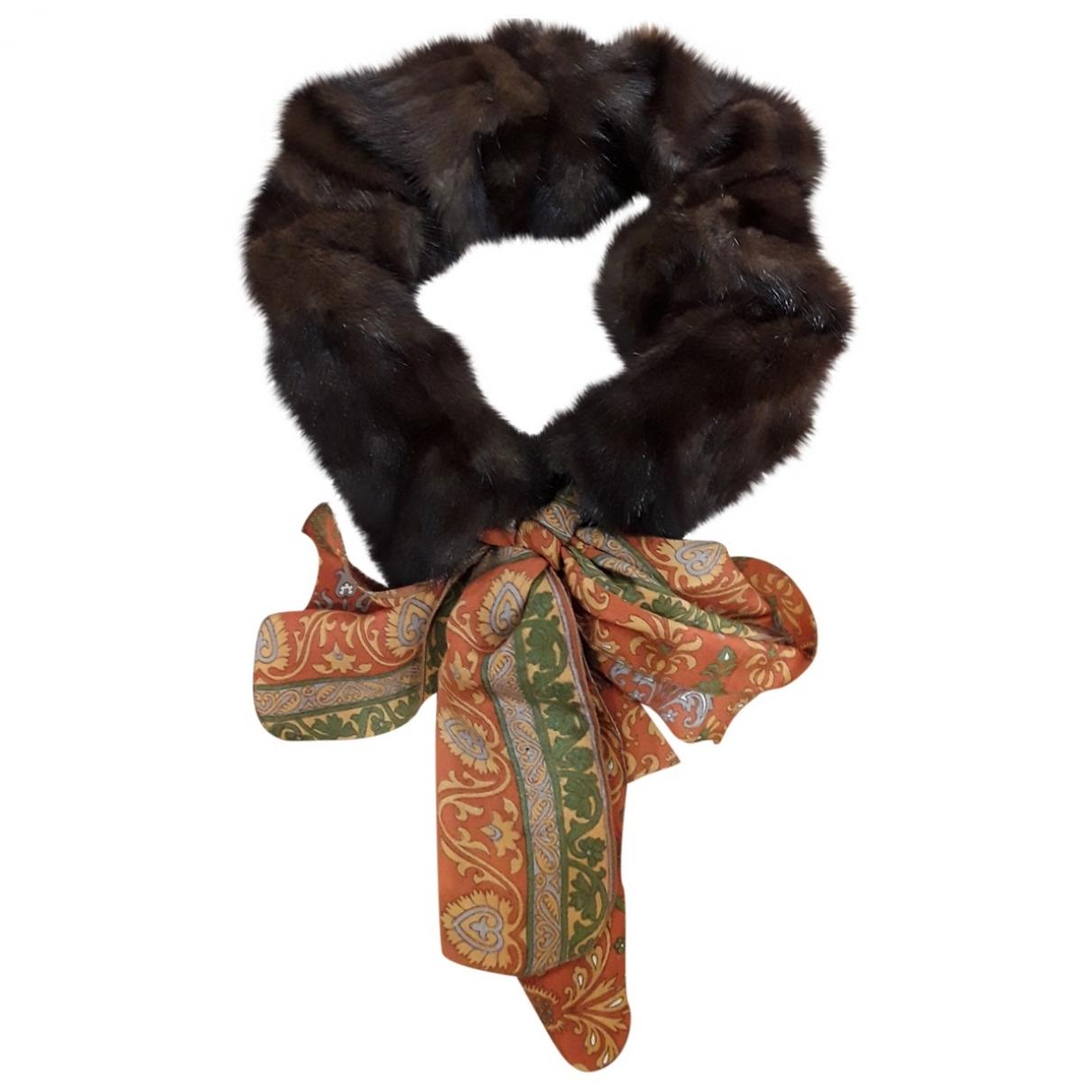 - Petite maroquinerie   pour femme en vison - marron