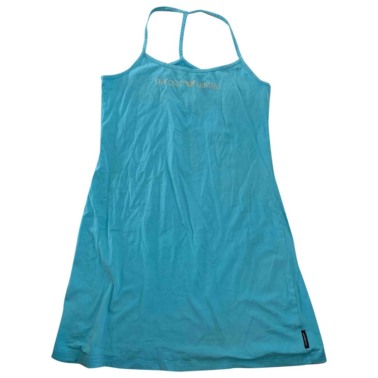 Emporio Armani - Bain   pour femme en coton - elasthane - turquoise
