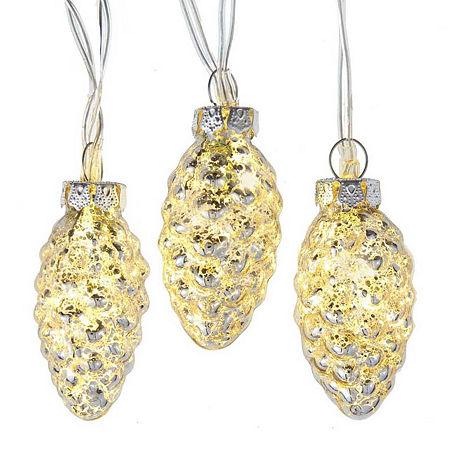 Kurt Adler Warm White Indoor String Lights, One Size , Silver