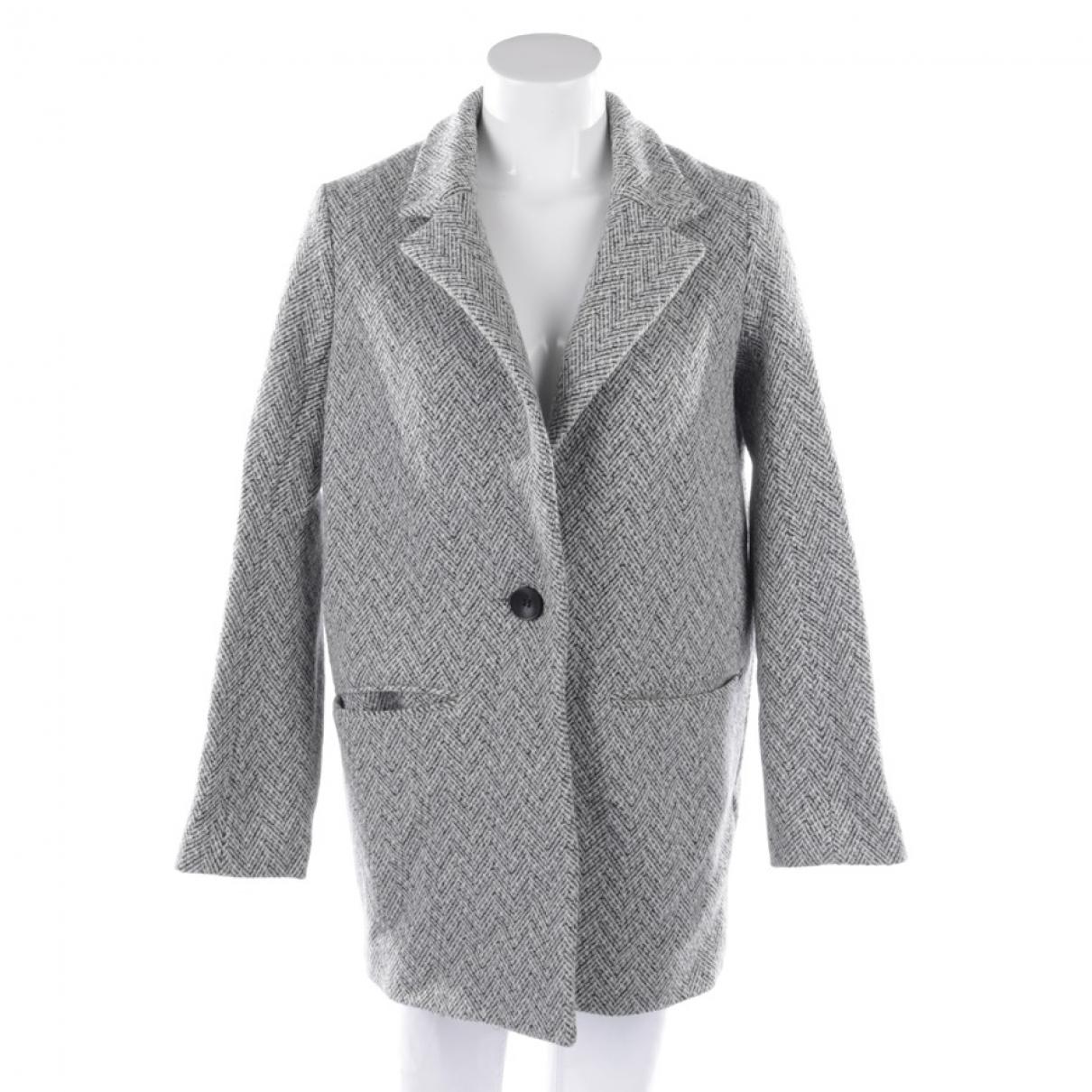 Maje \N Ecru Cotton coat for Women 38 FR