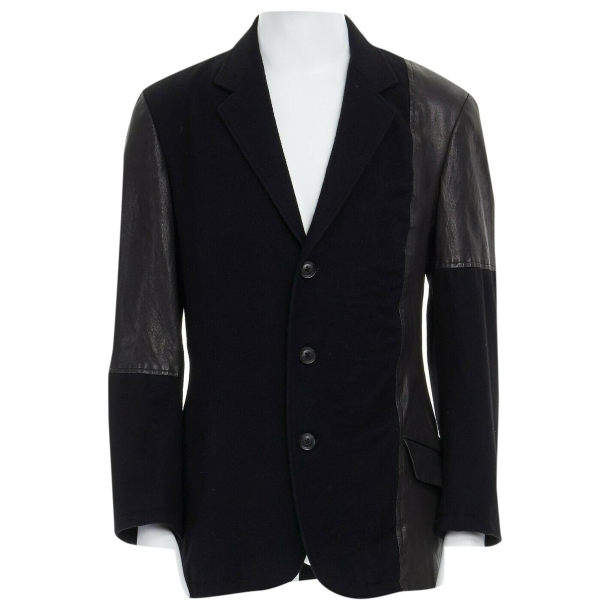 Yohji Yamamoto - Vestes.Blousons   pour homme en cuir - noir