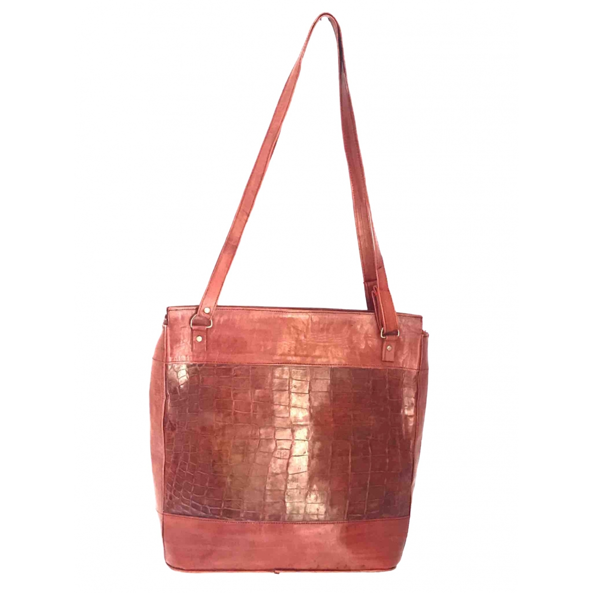 Non Signé / Unsigned \N Red Crocodile handbag for Women \N