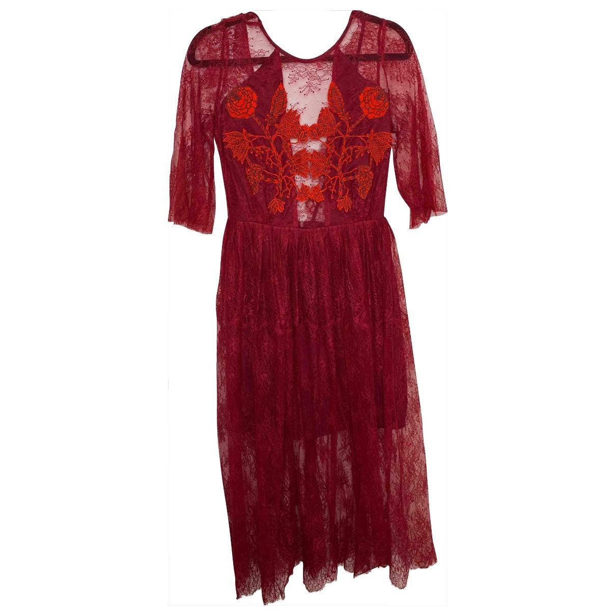 Sandro \N Kleid in  Bordeauxrot Polyester