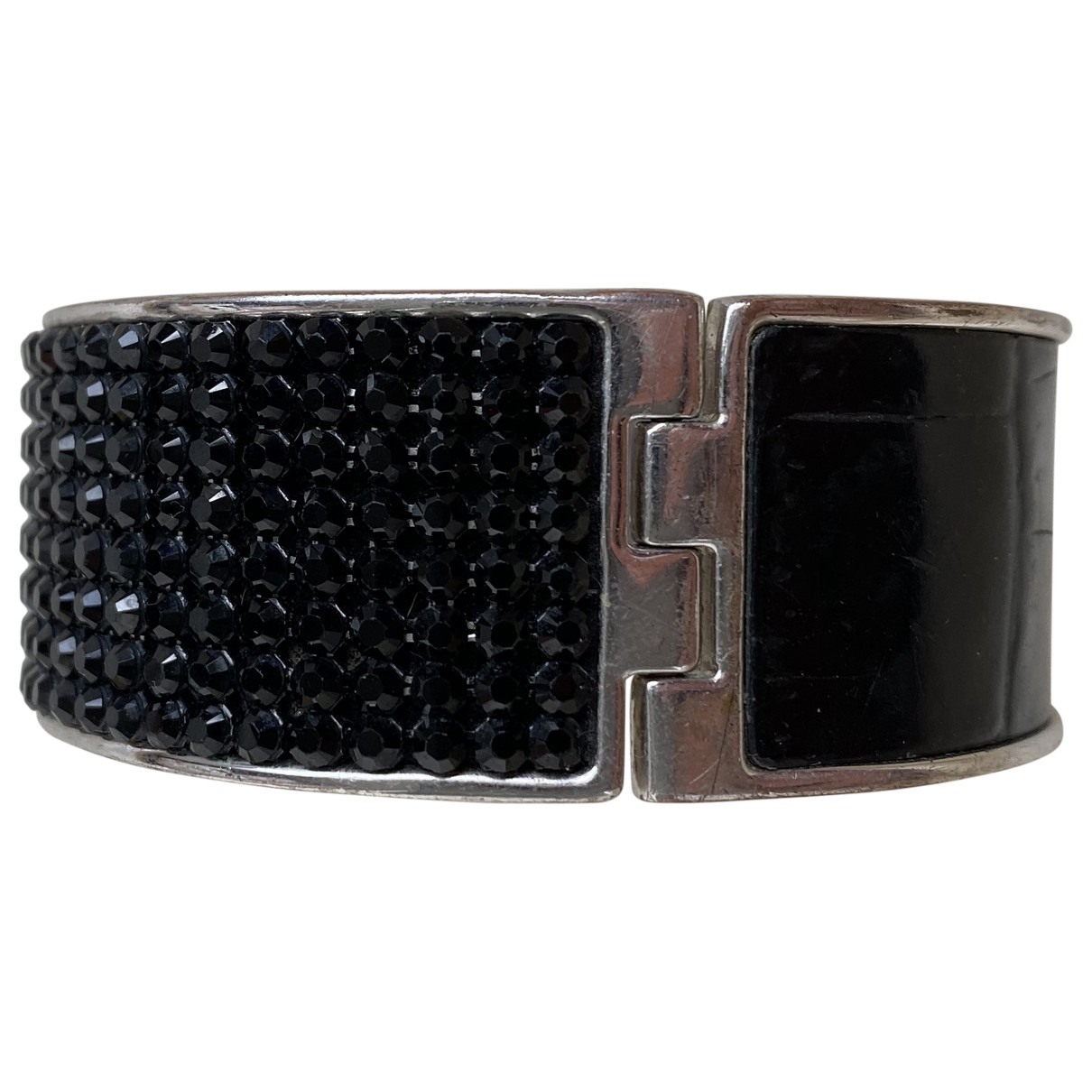 Swarovski \N Black Leather bracelet for Women \N