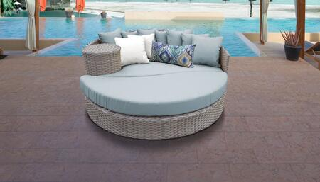 Florence Collection FLORENCE-SUN-BED-SPA 1 Sun Bed with 4 Large pillows   3 Regular pillows - Grey and Spa