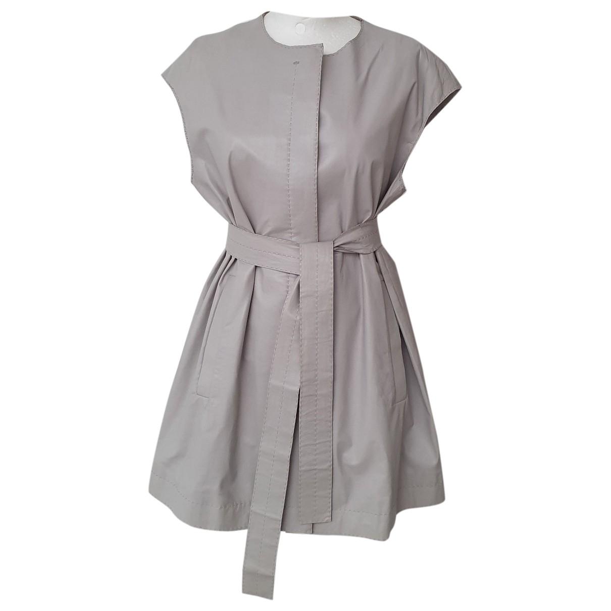 Boss - Veste   pour femme en cuir - gris