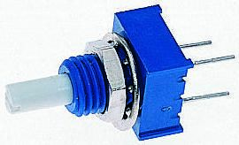 Bourns 1 Gang Rotary Conductive Plastic Potentiometer with an 3.18 mm Dia. Shaft - 5kΩ, ±20%, 0.25W Power Rating,