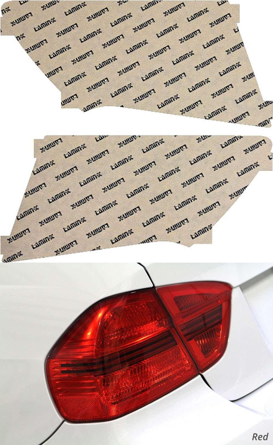Subaru WRX Sedan 08-14 Red Tail Light Covers Lamin-X S216R