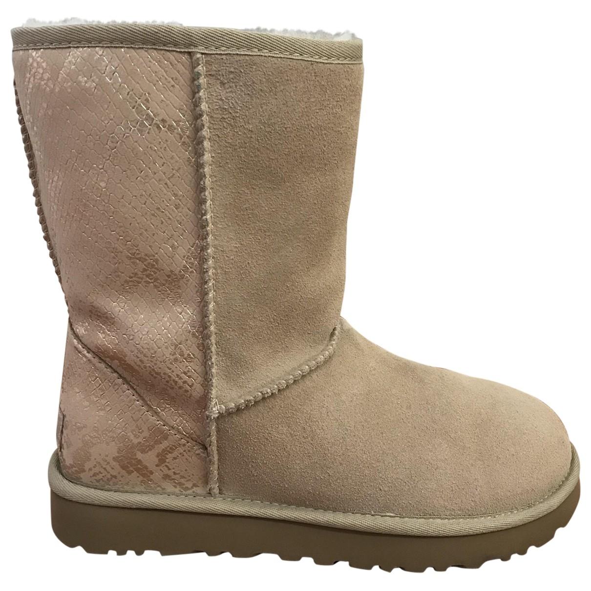 Ugg \N Beige Suede Boots for Women 38 EU