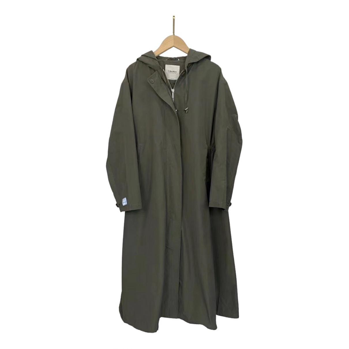 Max Mara 's \N Green Trench coat for Women 38 IT