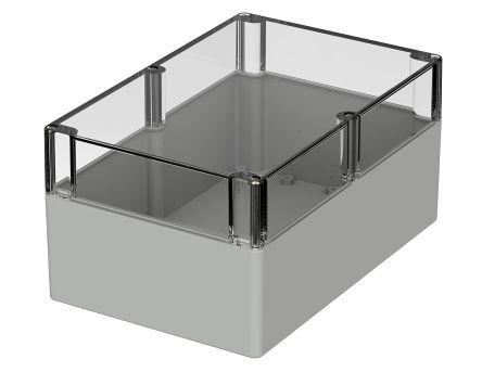Bopla Euromas, Light Grey Polycarbonate Enclosure, IP66, Flanged, 240.3 x 160.3 x 120mm