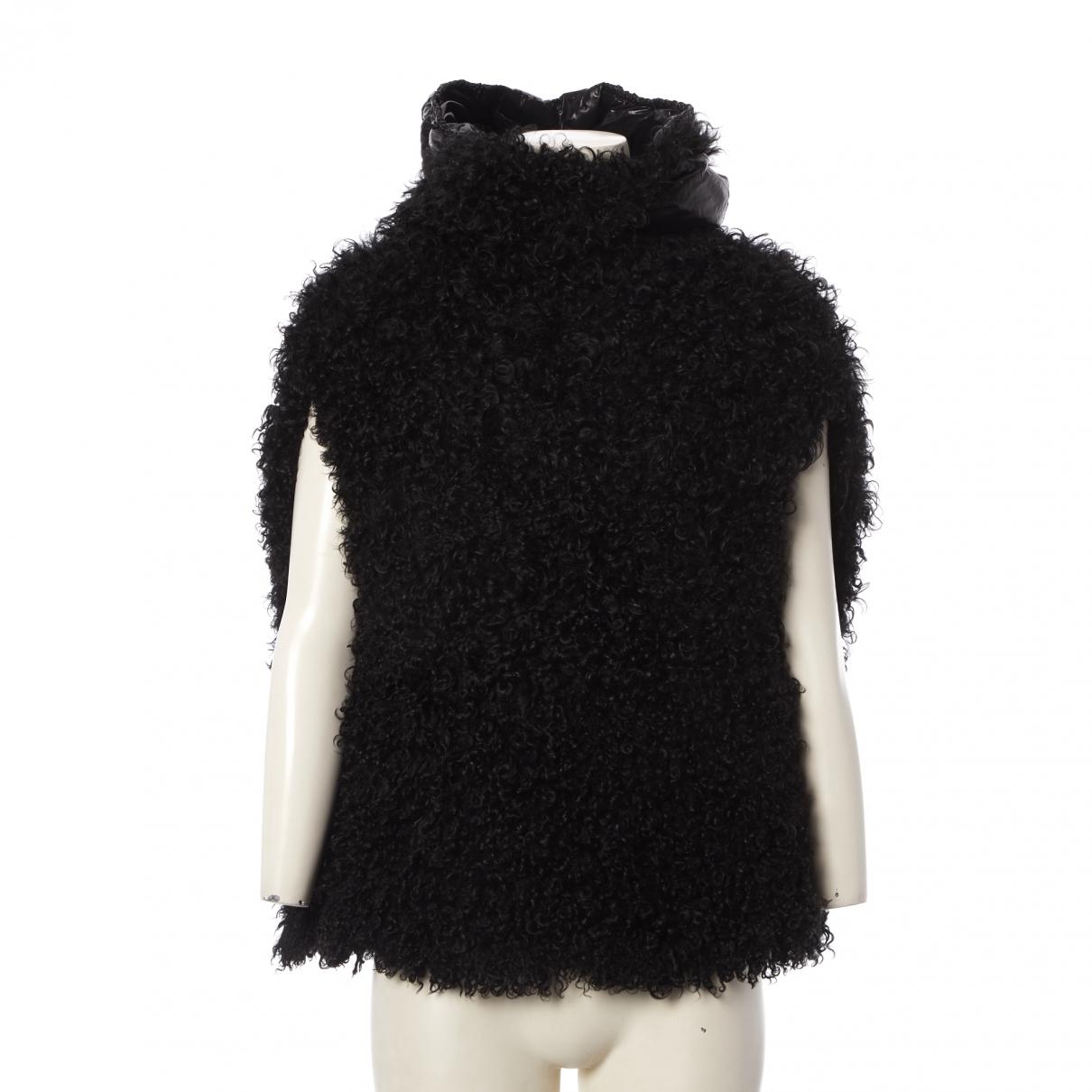 Moncler - Veste   pour femme en mouton - noir