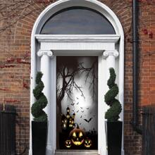 Halloween Pattern Door Sticker