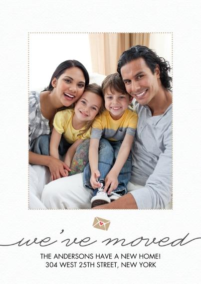 Moving 5x7 Cards, Standard Cardstock 85lb, Card & Stationery -Moving Envelope