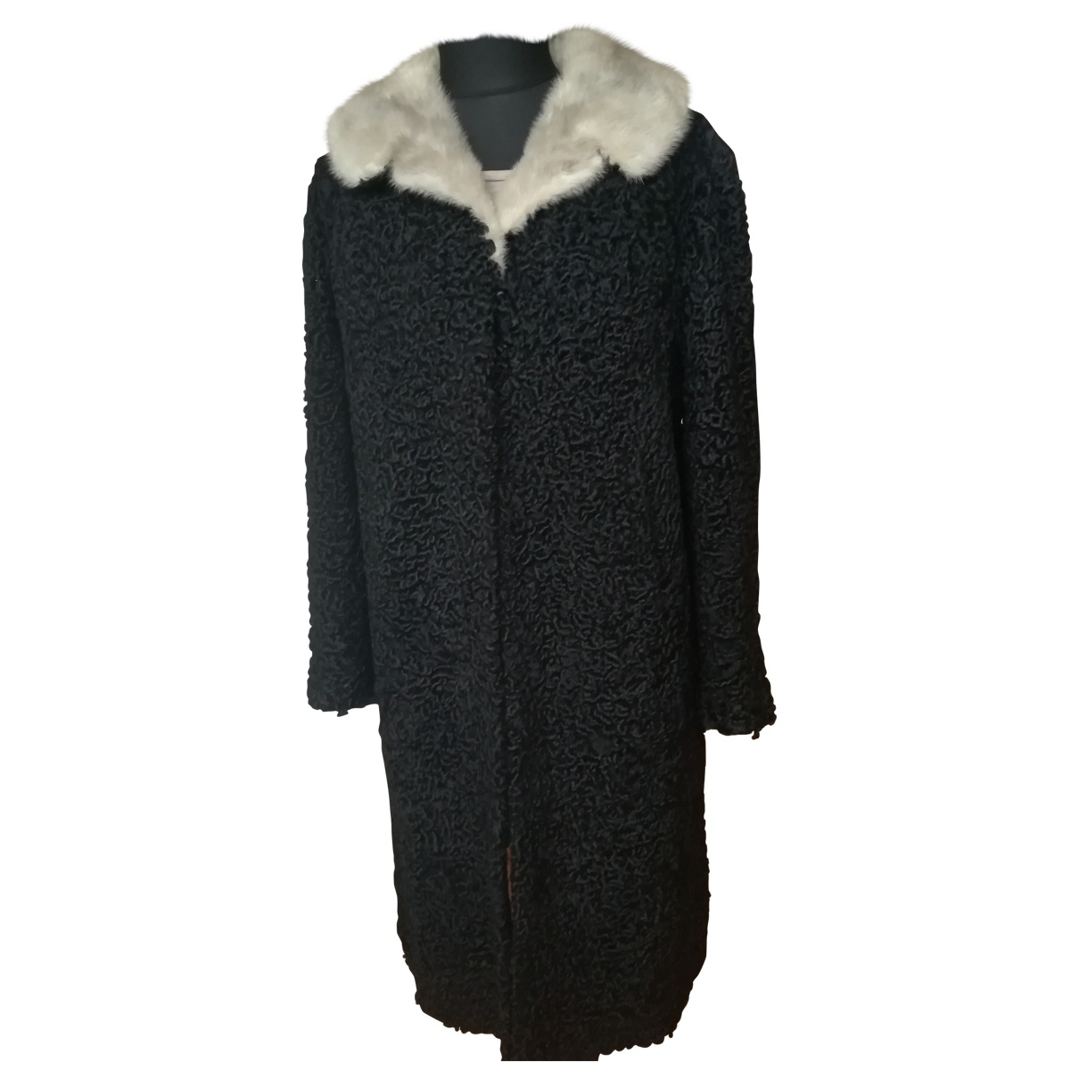 Non Signé / Unsigned \N Black Astrakhan coat for Women 42 FR