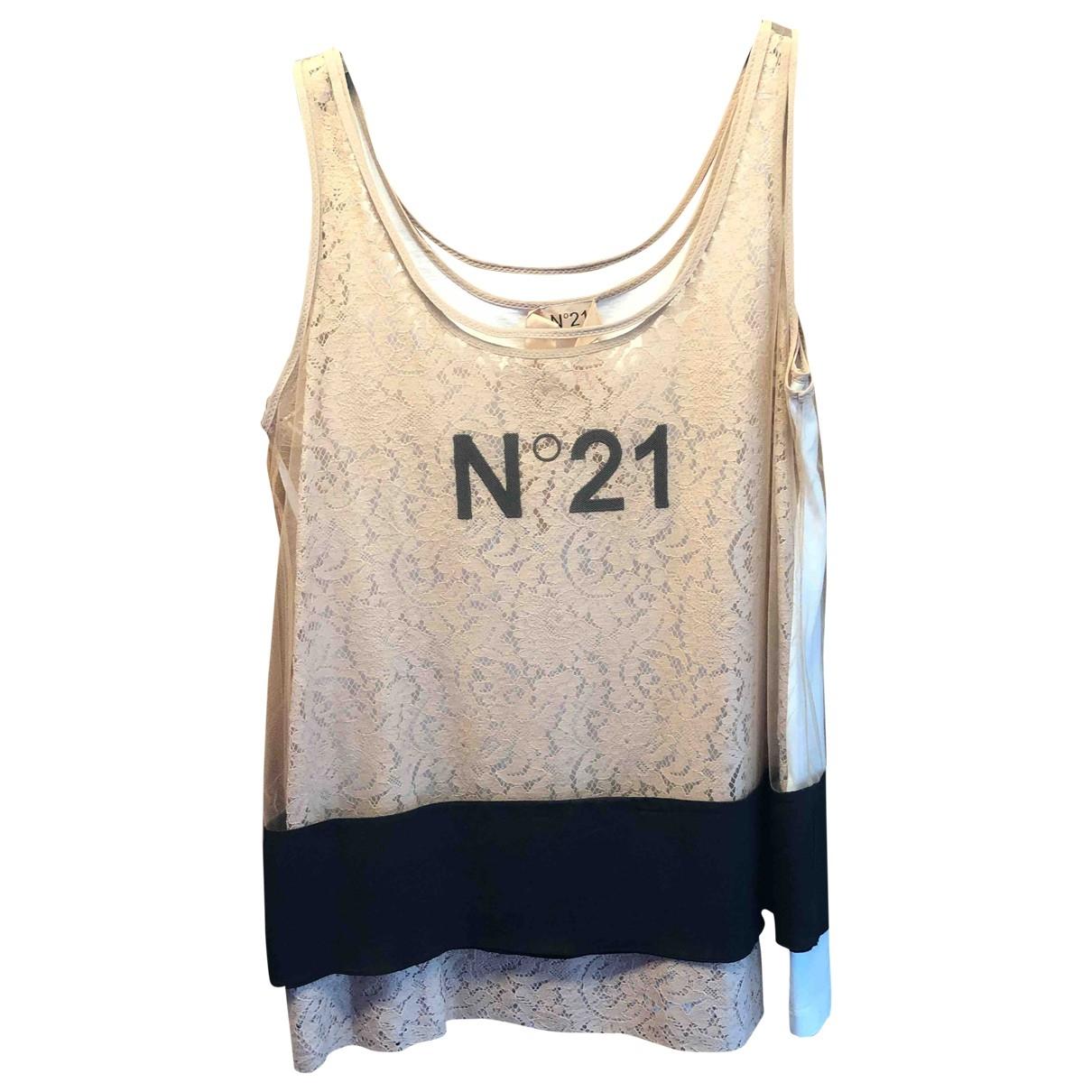N°21 \N Top in  Beige Baumwolle