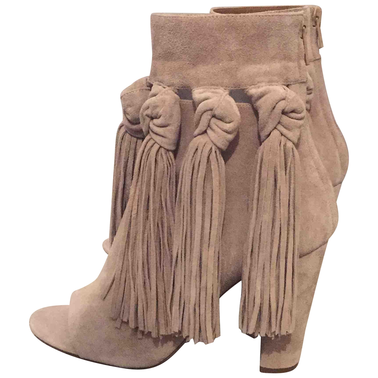 Chloé \N Beige Leather Ankle boots for Women 37.5 EU