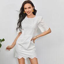 Kleid mit Reissverschluss hinten