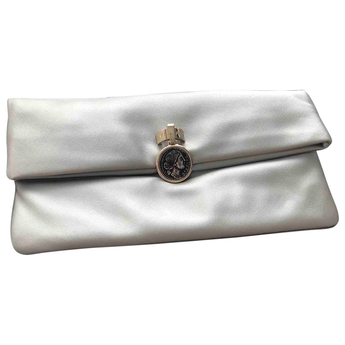 Bvlgari N Silver Silk Clutch bag for Women N