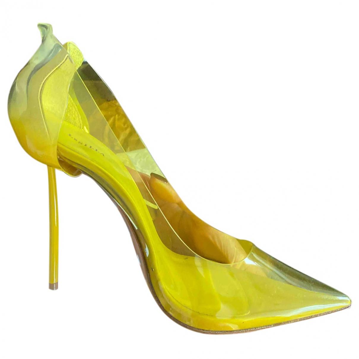Le Silla N Yellow Rubber Heels for Women 39 EU