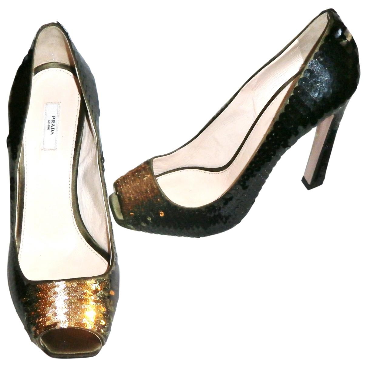 Prada - Escarpins   pour femme en a paillettes - noir