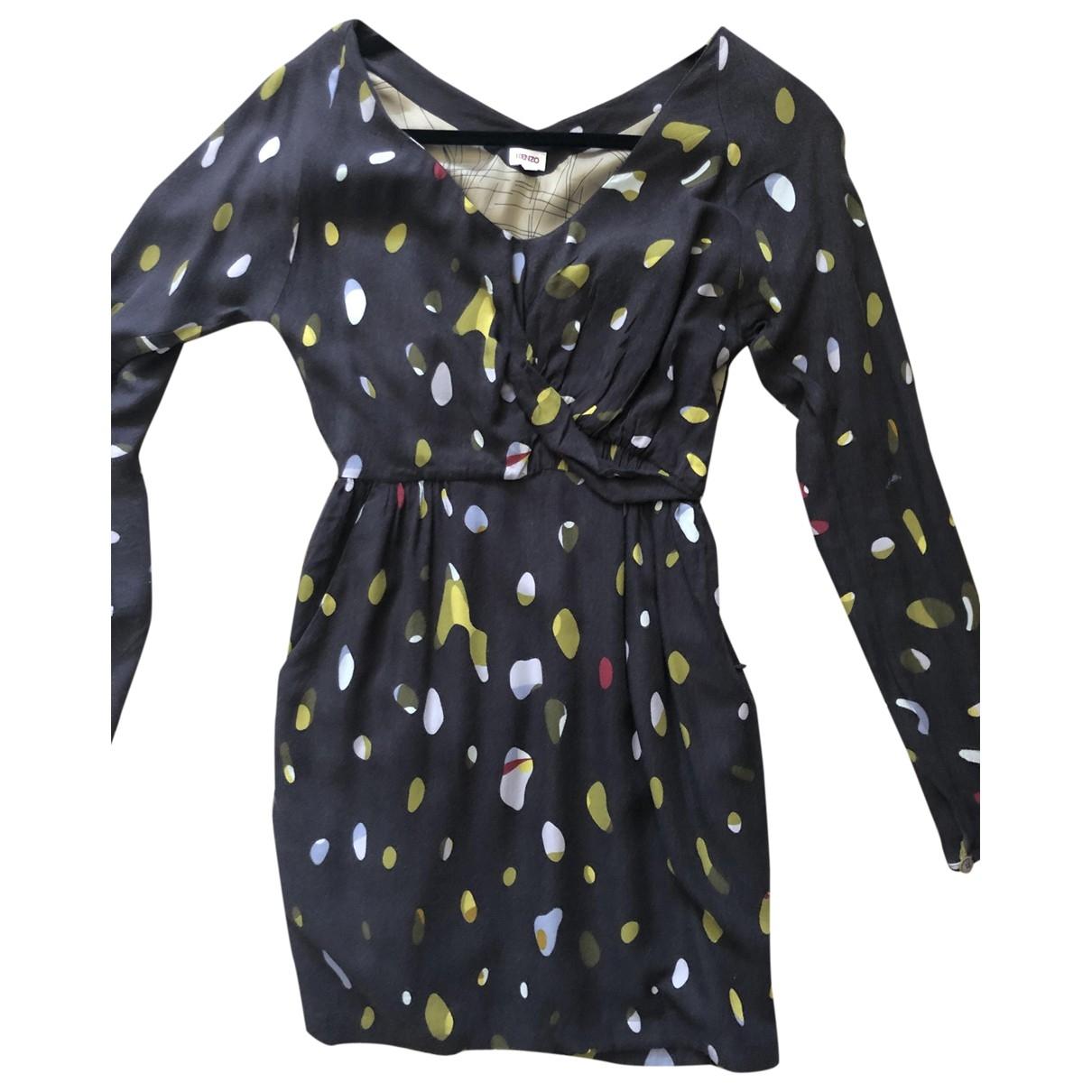 Kenzo \N Brown Cotton dress for Women 36 IT