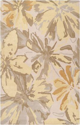 Athena Collection ATH5071-69 Rectangle 6' x 9' Area Rug with Hand Tufting and Wool Material in Green and Yellow