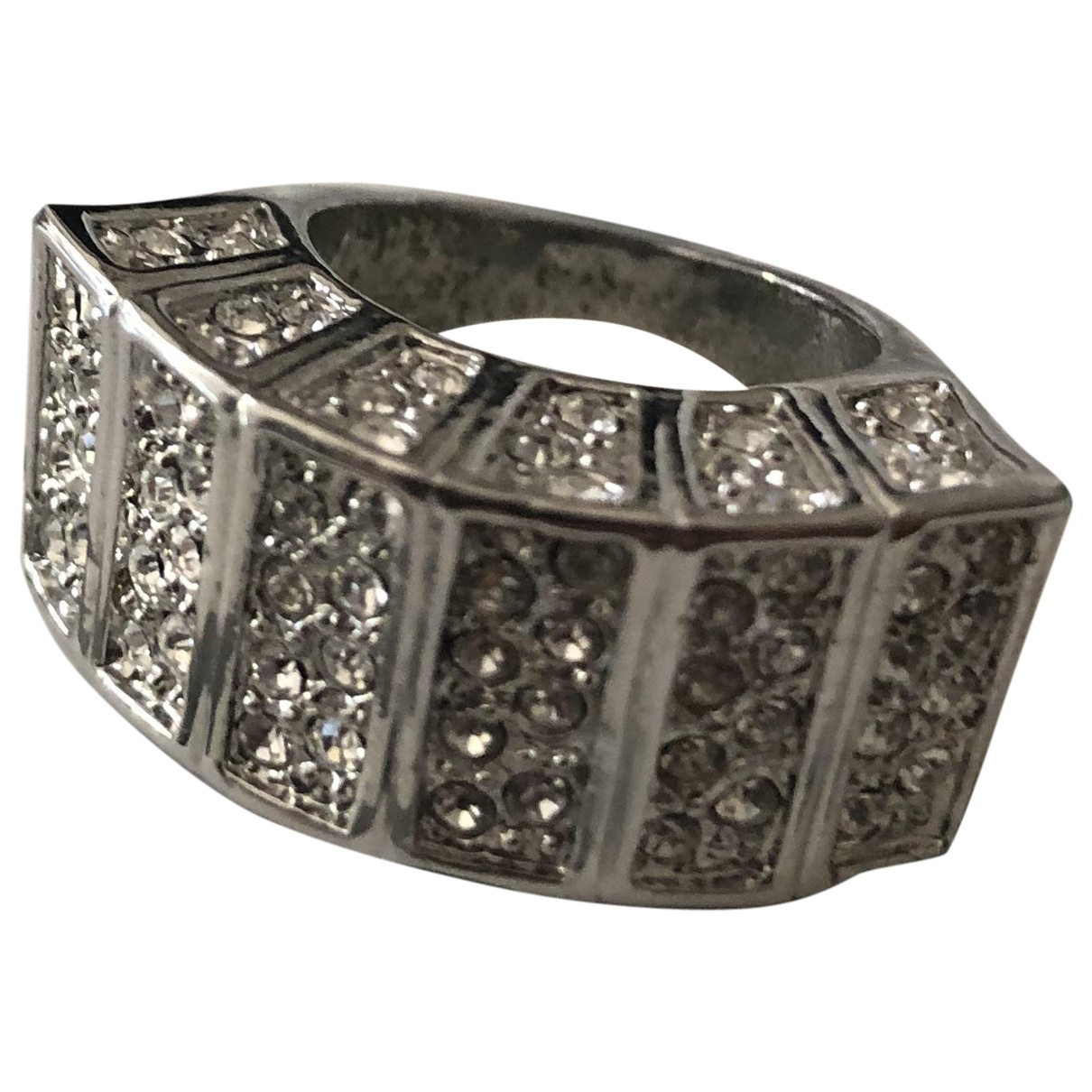 Non Signé / Unsigned \N Silver Metal ring for Women 44 EU