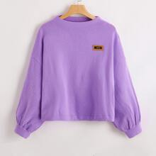 Drop Shoulder Patched Sweater