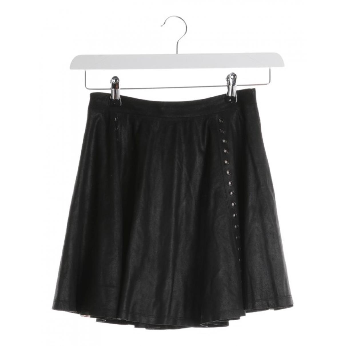 Alice & Olivia \N Black Leather skirt for Women 34 FR
