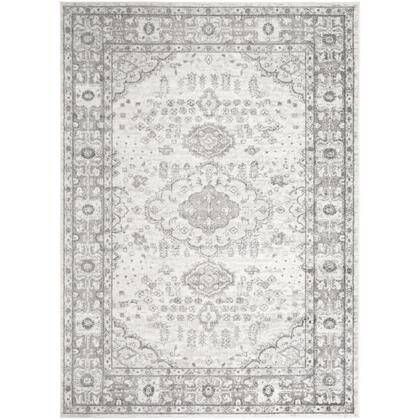 Monte Carlo MNC-2330 67 x 9 Rectangle Traditional Rug in Light Gray  Charcoal