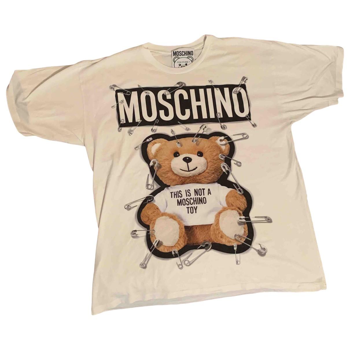 Moschino - Tee shirts   pour homme en coton - blanc