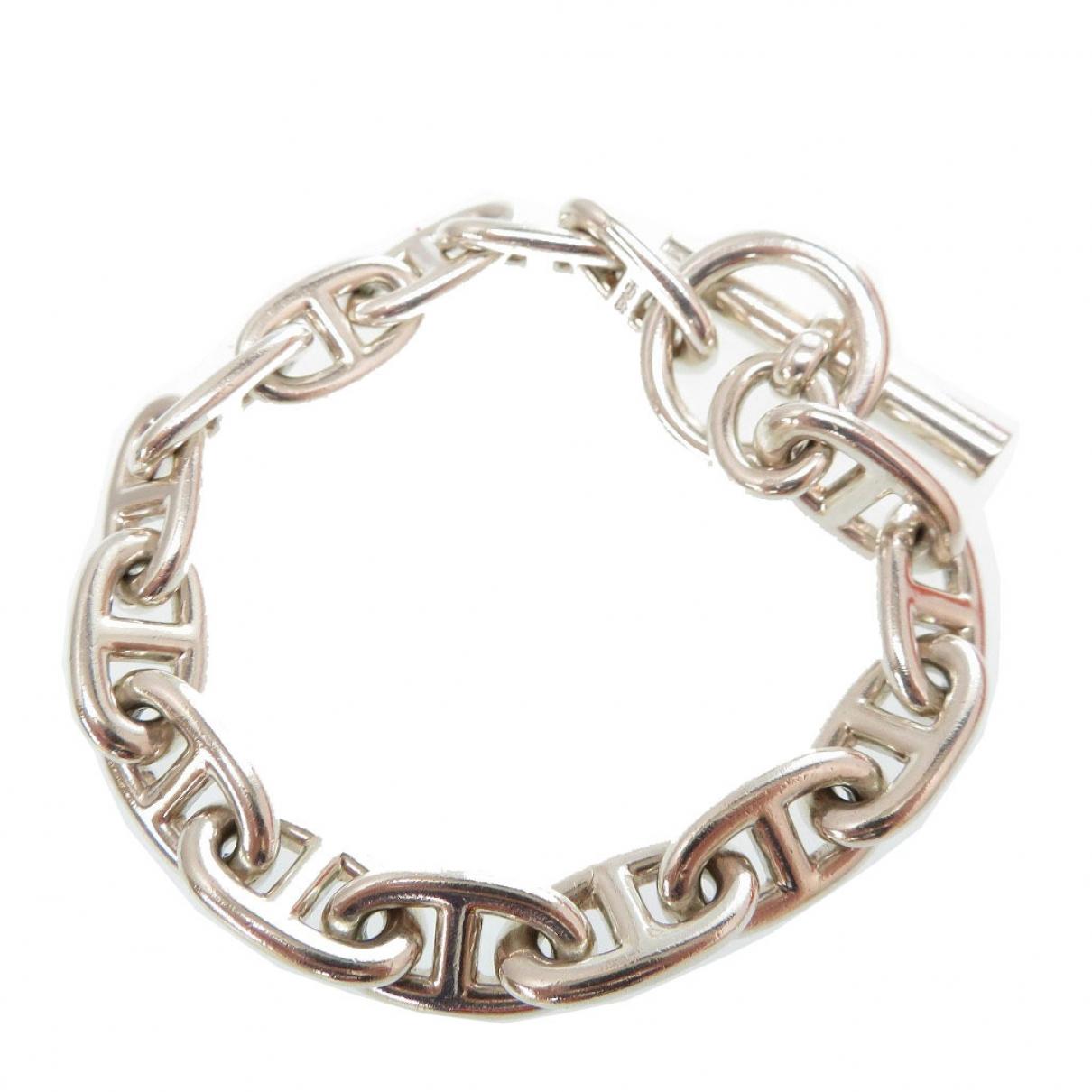 Hermes - Bracelet Chaine dAncre pour femme en argent - argente