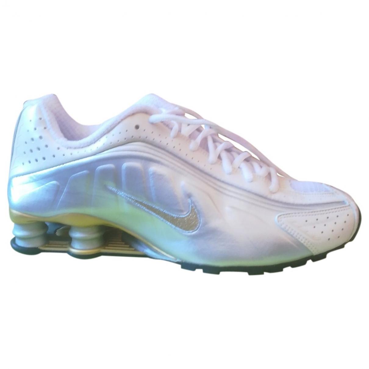 Nike Shox Silver Rubber Trainers for Women 40.5 EU
