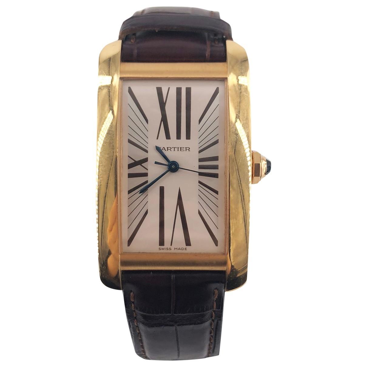 Reloj Tank Americaine de Oro amarillo Cartier