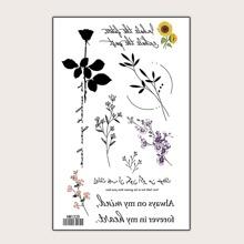 Blumenmuster Tattoo Aufkleber