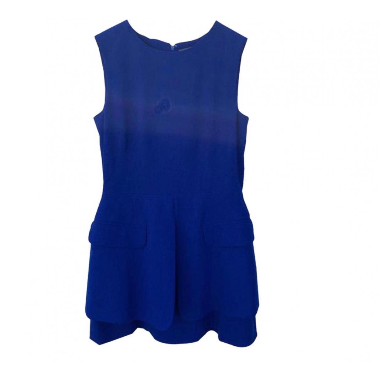 Alexander Mcqueen \N Blue Wool dress for Women 46 IT