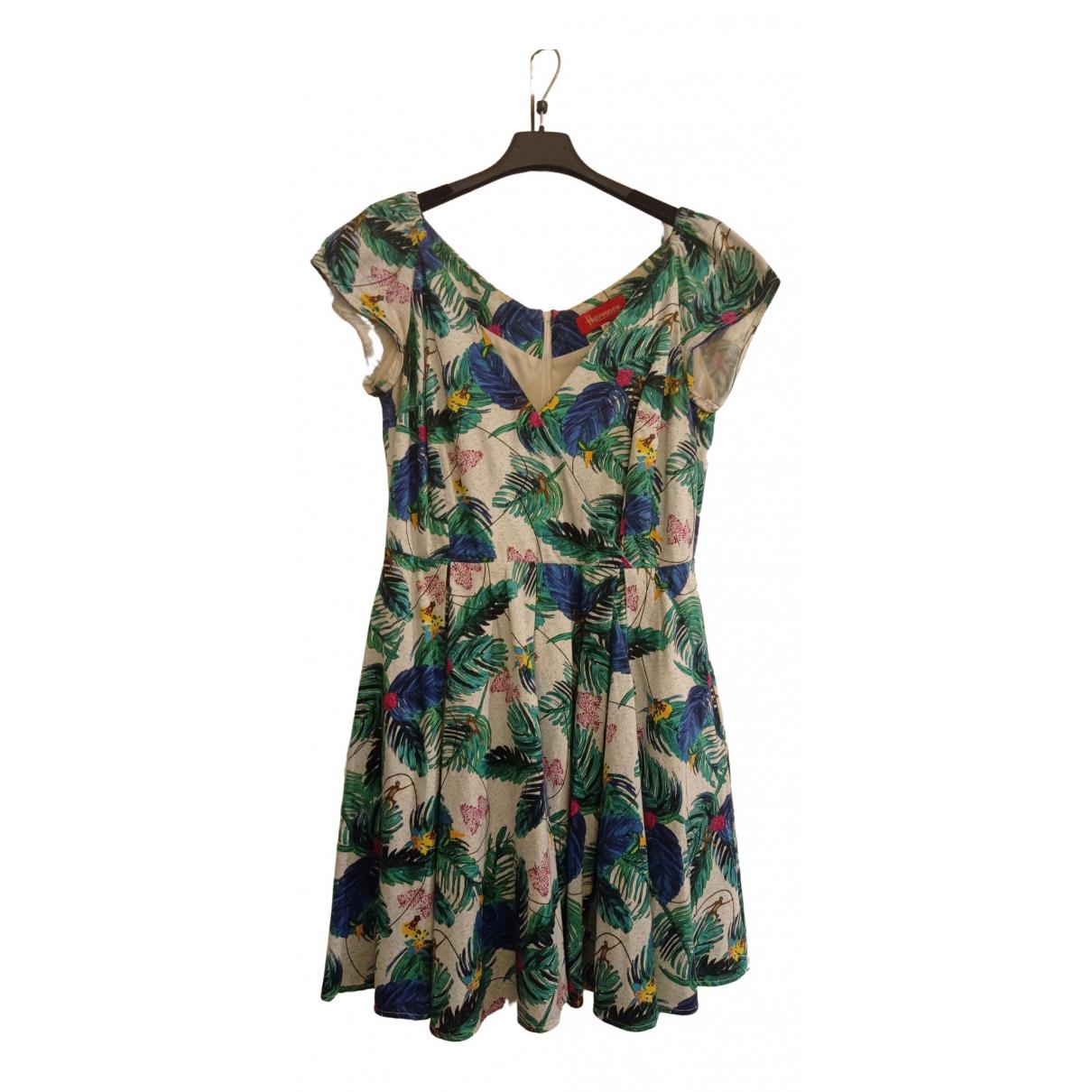 Maison Hēroine \N Kleid in  Bunt Baumwolle - Elasthan