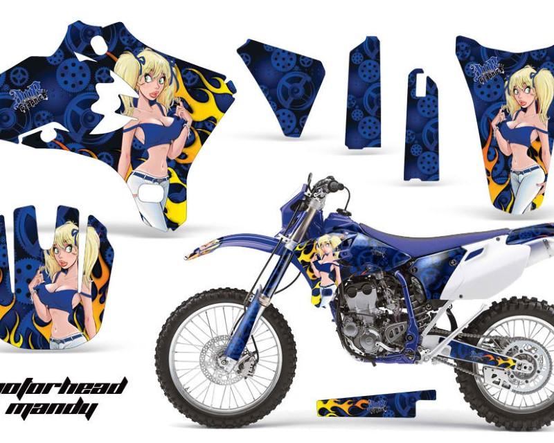 AMR Racing Dirt Bike Graphics Kit Decal Wrap For Yamaha YZ250F YZ450F 2003-2005áMOTO MANDY BLUE