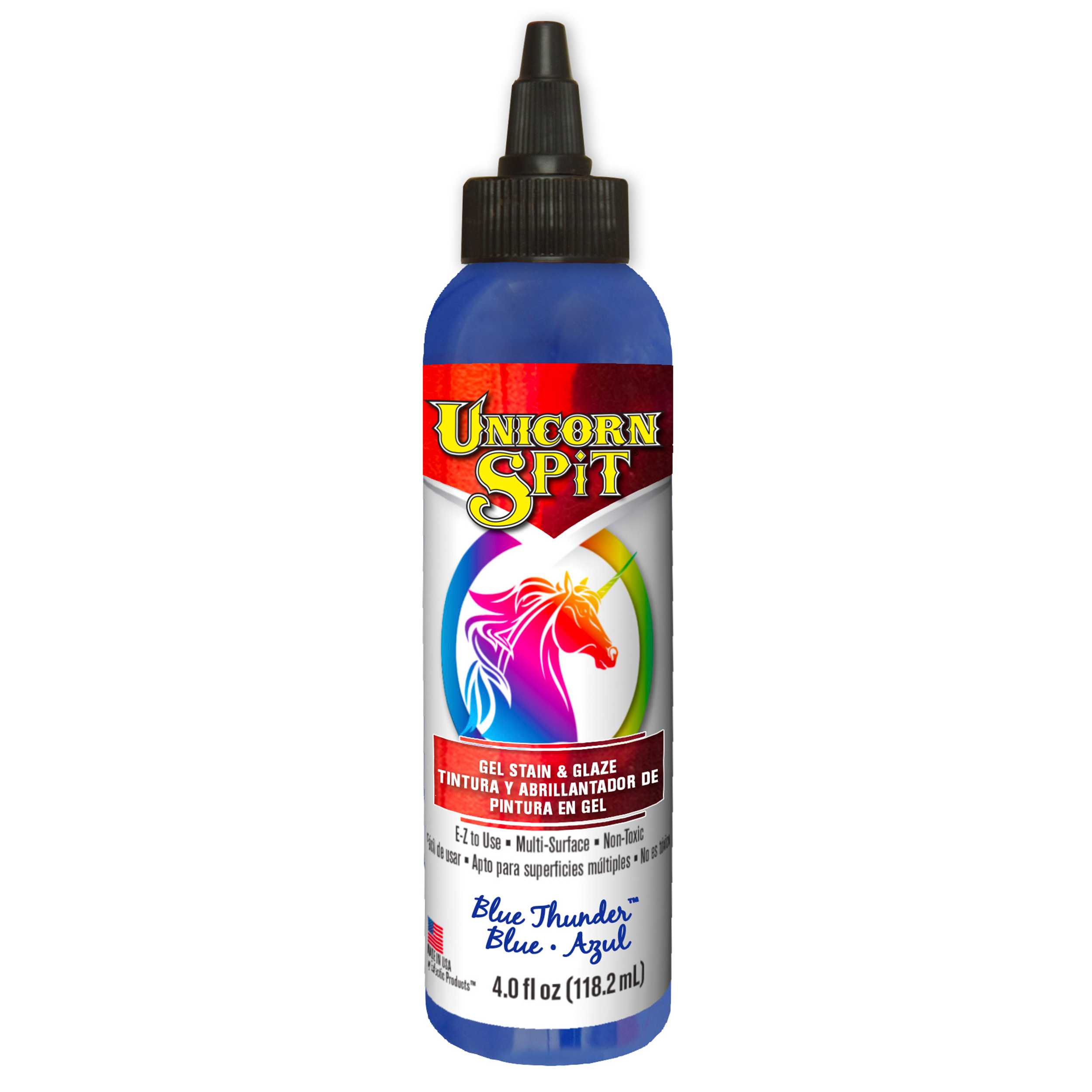 Blue Thunder Gel Stain and Glaze Water Based 8 oz