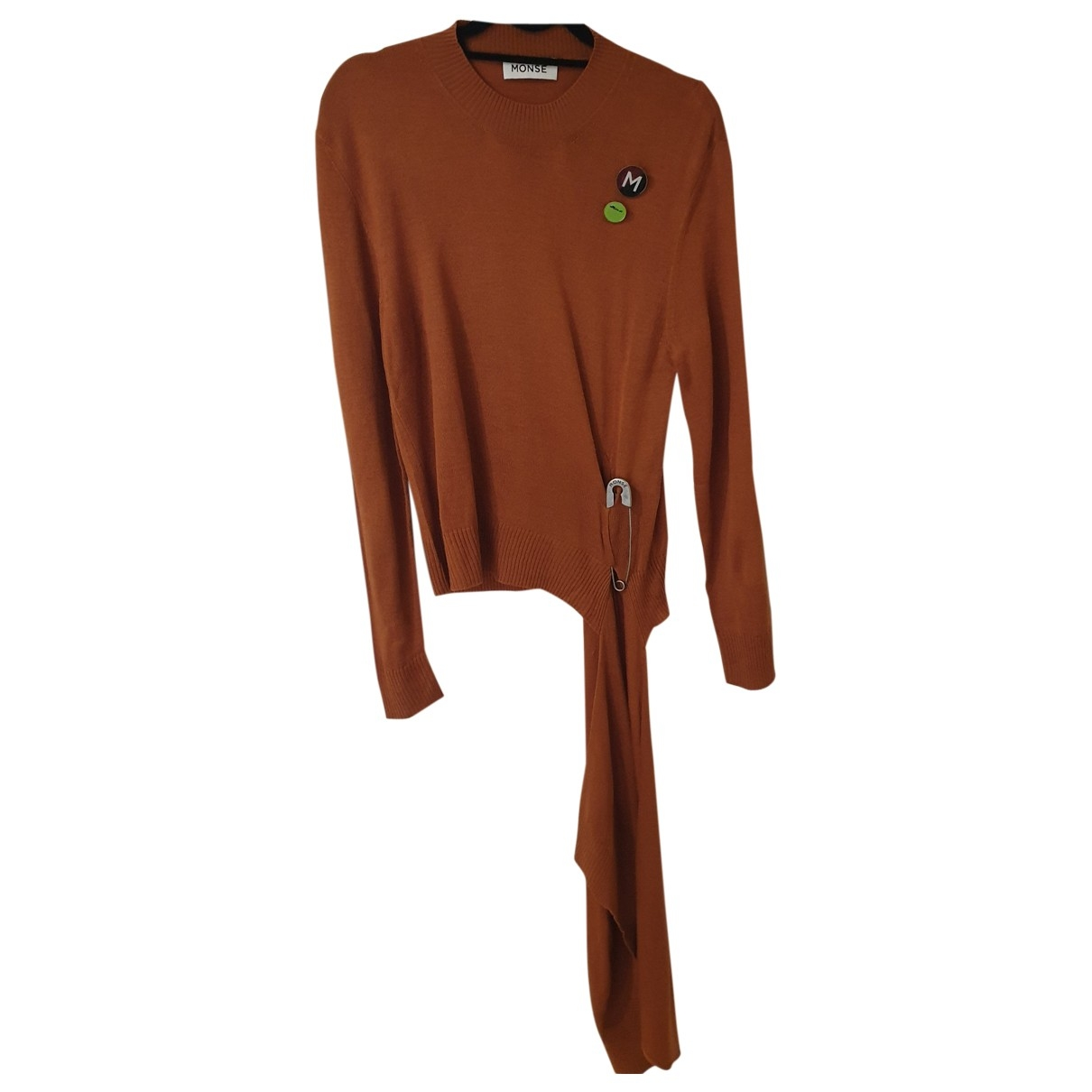 Monse - Pull   pour femme en laine - marron