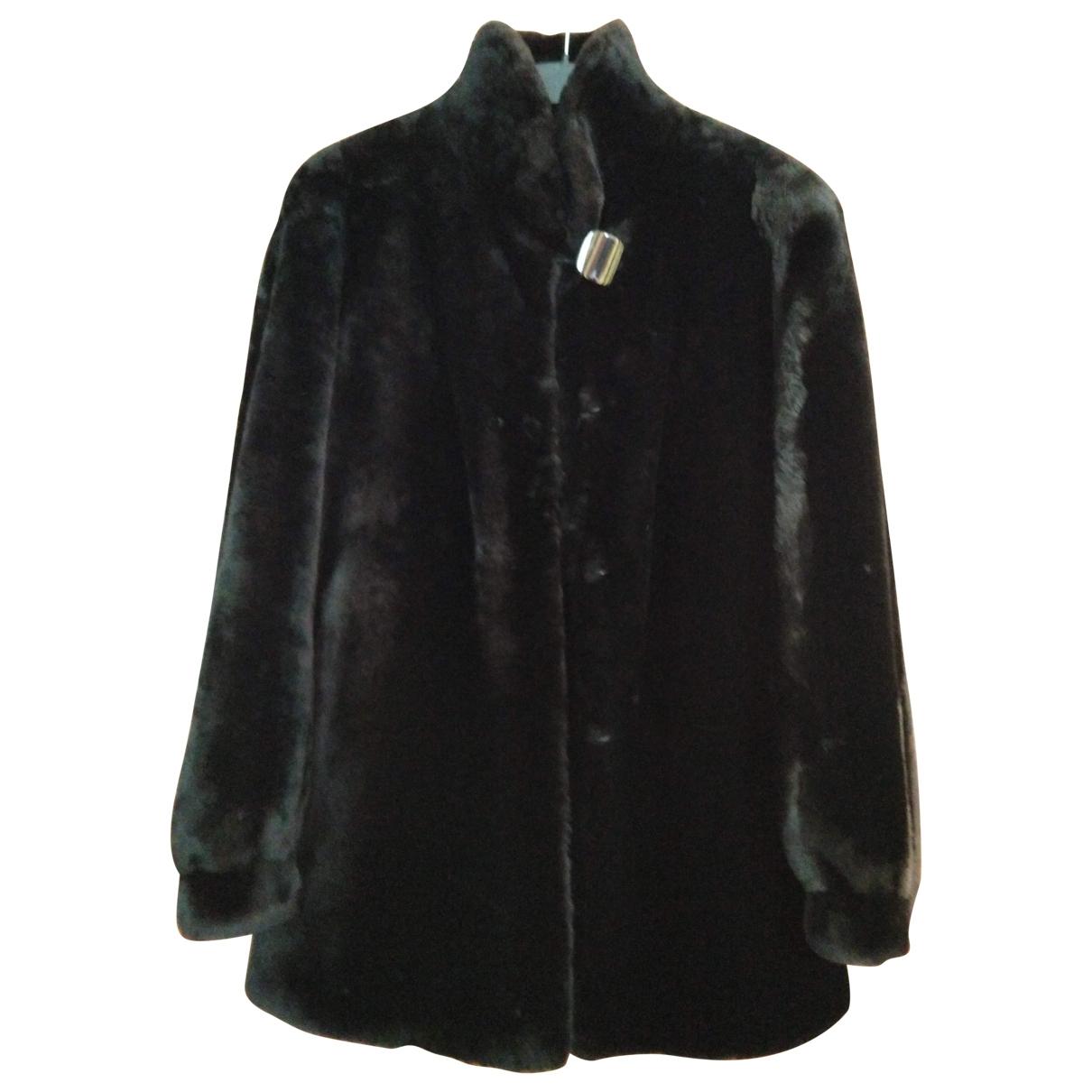 - Veste   pour femme en mouton - noir
