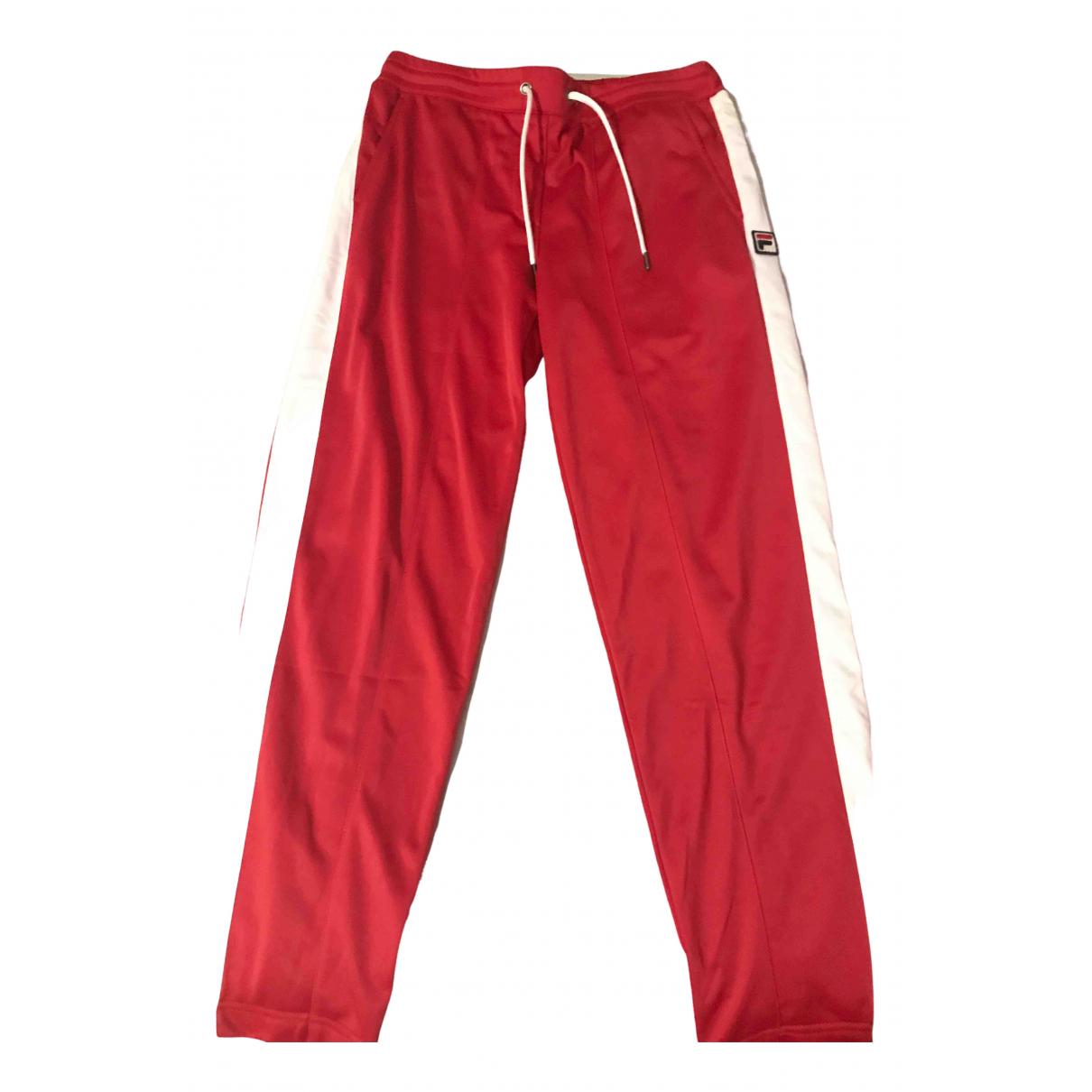 Pantalon en Poliester Rojo Fila