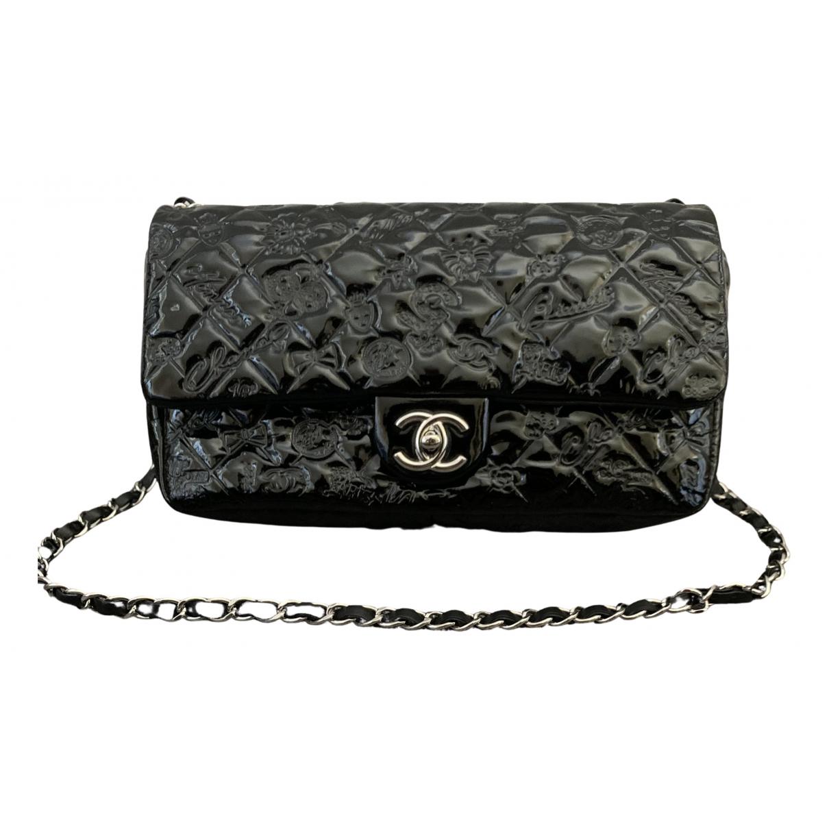 Chanel Timeless/Classique Black Patent leather handbag for Women N